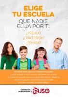 Campaña de FEUSO: Elige tu Escuela. Que nadie elija por ti