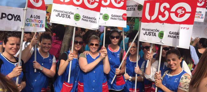 Nueva concentración de USO en apoyo a los trabajadores de los centros del Primer Ciclo de Infantil