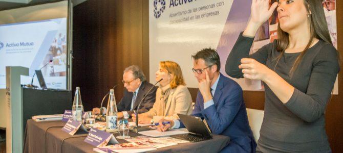 """FEUSO, en la presentación del estudio de Activa Mutua sobre """"Absentismo de las personas con discapacidad en las empresas"""""""