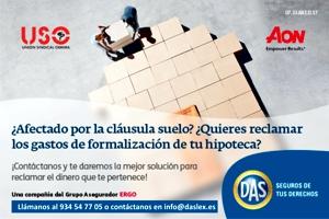 USO te ayuda con la reclamación de clausulas suelo, gastos de formalización de hipotecas y clausulas abusivas