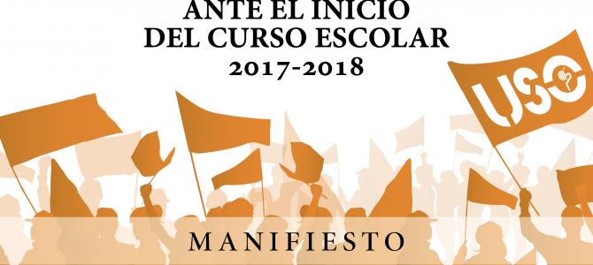 FEUSO lanza su Manifiesto de Inicio de Curso Escolar