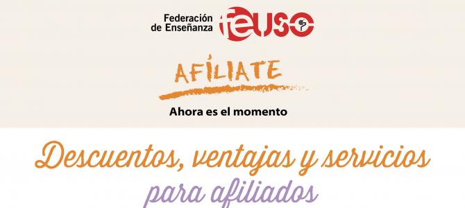 Descuentos, ventajas y servicios para afiliados a FEUSO
