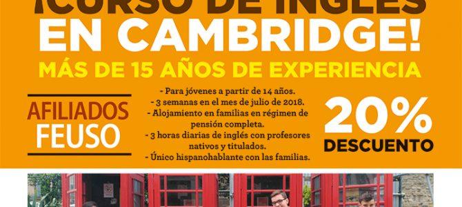 Curso de Inglés en Cambridge en julio con descuento a los afiliados a USO