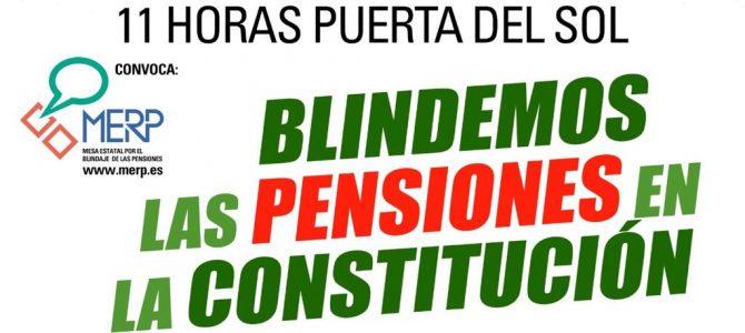USO y la MERP se manifestarán el 17 de Marzo por la sostenibilidad de las pensiones y la derogación de las Reformas de 2011 y 2013