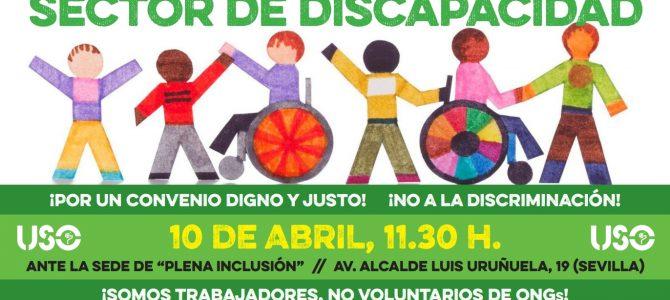 """USO se suma a la Concentración """"Por un Convenio Digno y Justo"""" para los trabajadores del Sector de Discapacidad"""