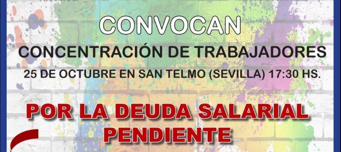 Concentración por los derechos de los trabajadores de la concertada de Andalucía
