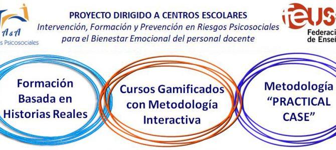 Nuevos cursos del Proyecto A&A. Intervención, Formación y Prevención de Riesgos Psicosociales del personal docente