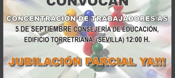 Concentración de delegados/as y miembros de Comité de Empresa de Concertada. Próximo jueves, 5 de septiembre a las 12:00h en Torretriana