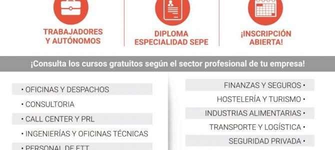 Nueva oferta de cursos GRATUITOS online, subvencionados 100% por el SEPE, para todos los sectores