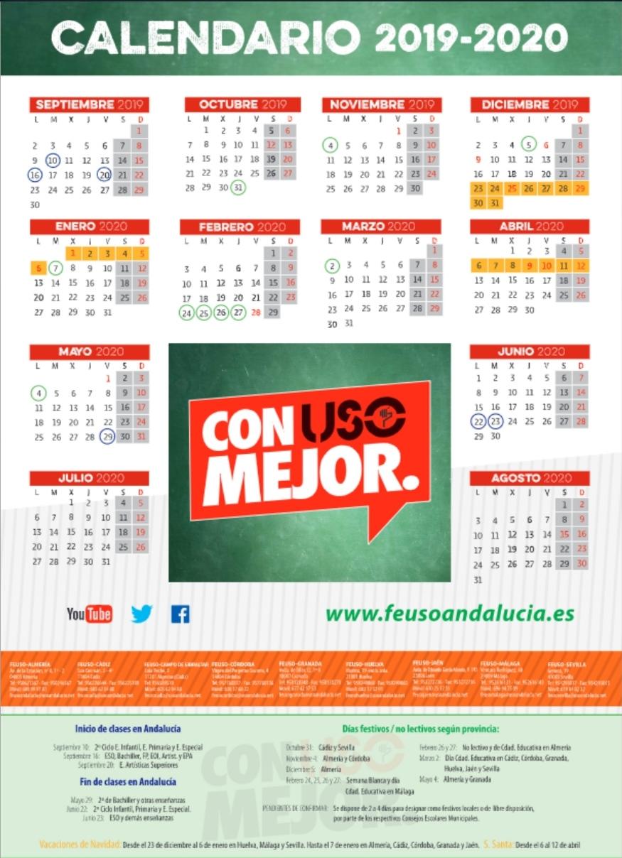 Calendario FEUSO Andalucía