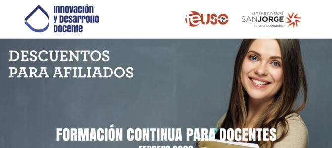 Nueva convocatoria de los Cursos de IDD online. Formación certificada para docentes con descuentos a los afiliados a FEUSO