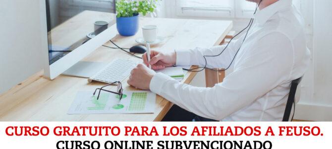 """""""Teleformación para docentes"""". Curso gratuito para los afiliados a FEUSO. Curso online subvencionado el Ministerio de Trabajo"""