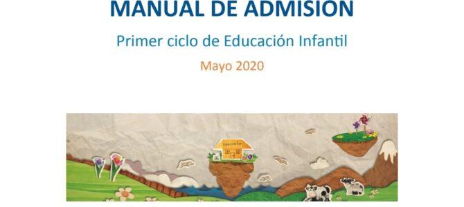 Manual de admisión del Primer Ciclo de Educación Infantil para el curso 20/21
